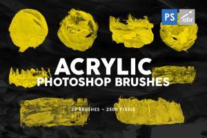 26-acrylic-shapes-photoshop-stamp-brushes-1