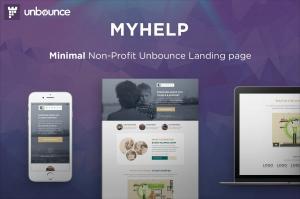 myhelp-non-profit-unbounce-landing-page-template