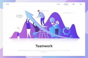 teamwork-flat-concept