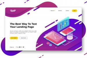 technology-website-hero-header-template