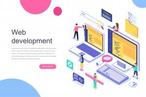 web-development-isometric-concept